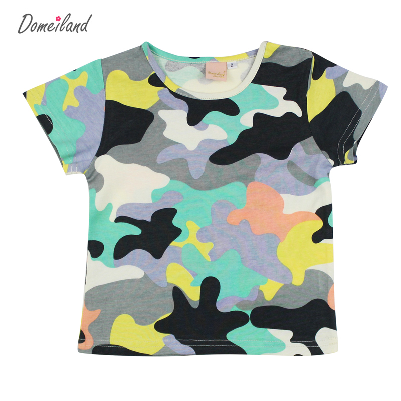 2017 Fashion domeiland summer Children s clothes boy Camouflage t shirts Print camo Clothing Kids Cotton