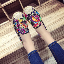 Hot Sale! 2016 Summer New Breathable Mesh Shoes Cool Knit Embroidery Bohemian Flat Shoes Low To Help Women's Wild flat Shoes
