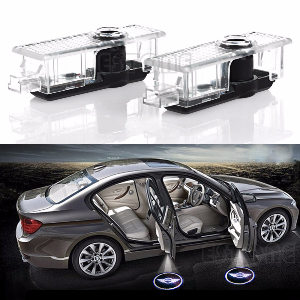 2Pc LED Car Door Welcome Laser Projector Courtesy Shadow Logo Light For BMW MINI Auto Lamp