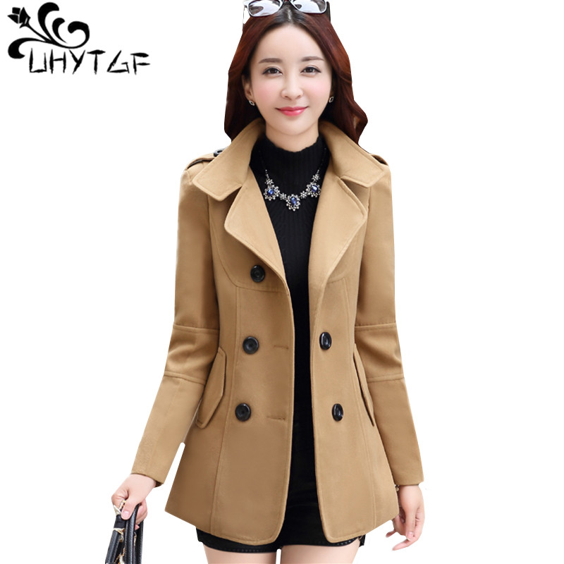 Mens EX Store Wool Mix Camel  Trench Coat Long Business Winter Overcoat S M L