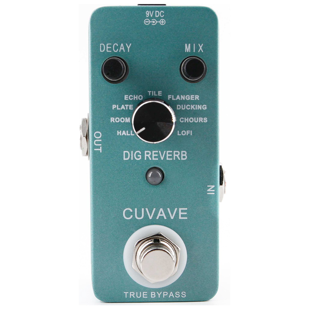 CUVAVE DIG Reverb Guitar Effect Pedal with 9 Reverb Types True Bypass Effects Stompbox for Electric