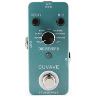 CUVAVE DIG Reverb Guitar Effect Pedal with 9 Reverb Types True Bypass Effects Stompbox for Electric Guitar