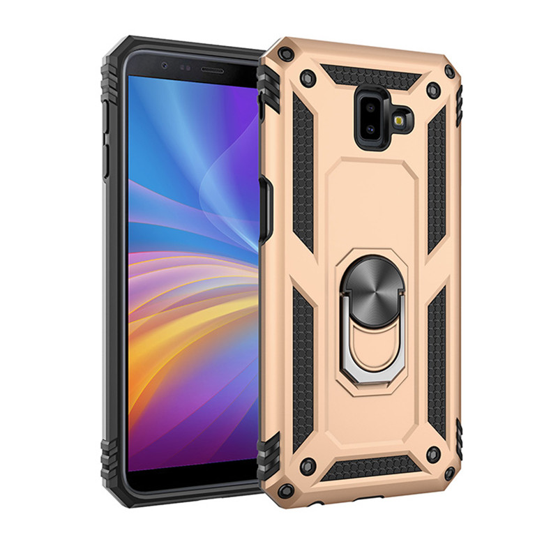 Shockproof Armor Silicon <font><b>Case</b></font> For <font><b>Samsung</b></font> A6 <font><b>A7</b></font> A8 A9 Plus J8 <font><b>2018</b></font> A530F <font><b>A730F</b></font> Finger Ring Car Magnetic Bracket Protector Cover image