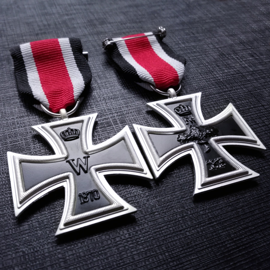 AGED Repro WW2 With Ribbon German Military Army 1914 IRON CROSS 2ND CLASS