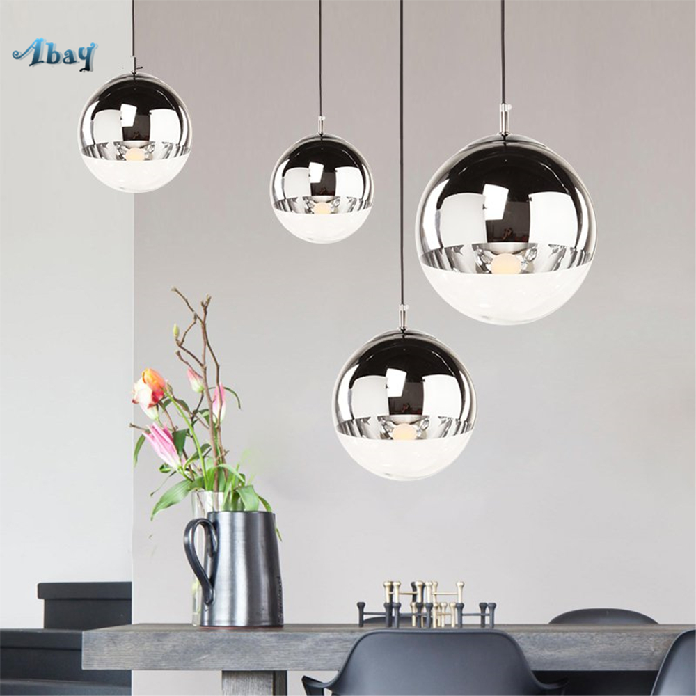 Nordic led Glass ball Pendant Light modern Living Room decoration kitchen dining room hanging lamp Luxury silver light fixturesNordic led Glass ball Pendant Light modern Living Room decoration kitchen dining room hanging lamp Luxury silver light fixtures