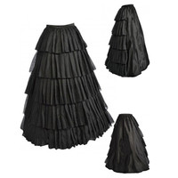 Abbille Tutu Skirt Silps Swing Rockabilly Petticoat Wide Hem Maxi Skirt Long Retro Skirt Petticoat Underskirt
