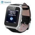 Teamyo W90 Bluetooth Smart Watch Full View HD Экран Мужчины Роскошные Кожаные Бизнес Smartwatch Рыцарь для IOS Android Телефоны