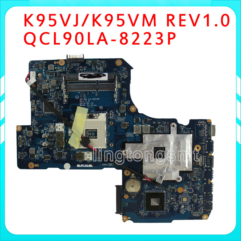 Original R900V A95VJ R900VJ K95VJ K95VM for ASUS Laptop motherboard REV1.0 Mainboard 2ram Slots GT630 N13P-GLR-A1 full tested k r k naidu a v ramana and r veeraraghavaiah common vetch management in rice fallow blackgram