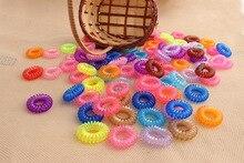 Бесплатная Доставка 5 Шт. Конфеты Цвет Телефонная Катушка Круг, Чтобы Не Повредить Волосы Веревка Веревка