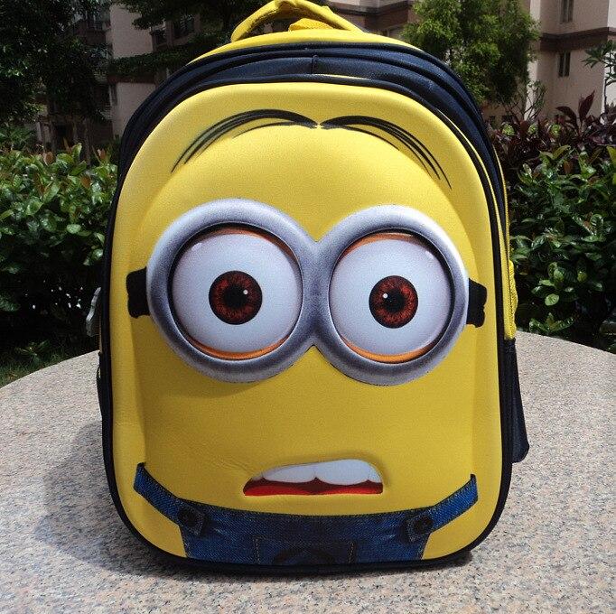 ФОТО Despicable Me anime creative Minions 3D school bag students travel bag 8 -15 years kids backpack children cartoon Christmas gift