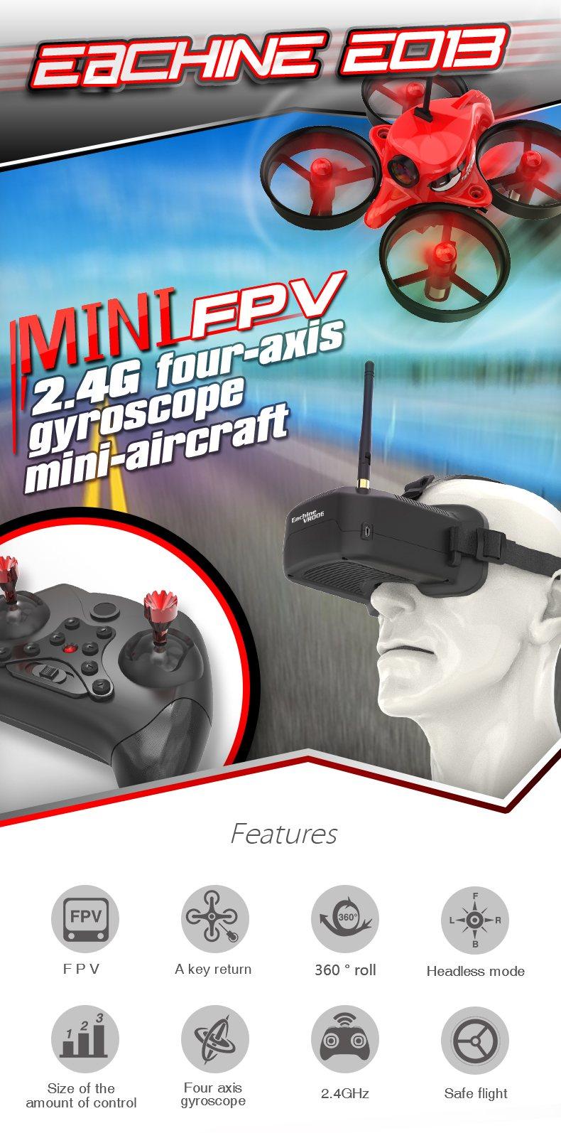 Квадрокоптер с очками виртуальной реальности Eachine E013 купить на Алиэкспресс