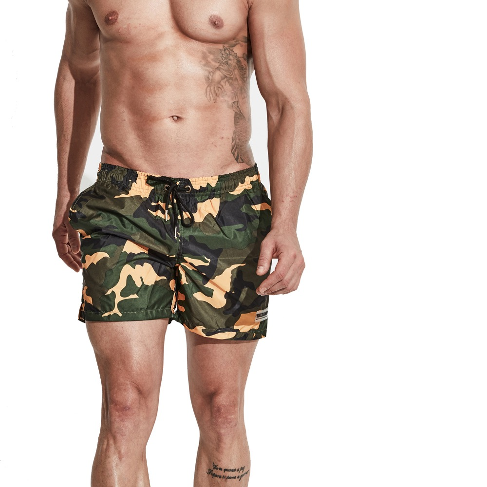 Men's Camouflage Multifunctional Sports Swimwear   Short     Board     shorts   Sports Beach wear