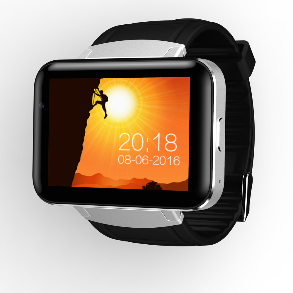 DM98 Smart Watch Phone MTK6572 2.2 inch IPS HD 900mAh 512MB Ram 4GB Rom Android 4.4 3G WCDMA GPS WIFI Smartwatch Stock