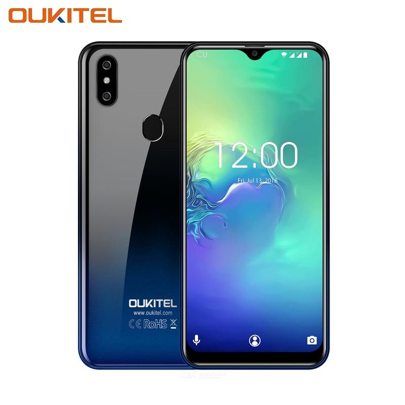 OUKITEL C15 Pro 2 GB 16 GB Android 9.0 téléphone portable MT6761 identification de visage d'empreinte digitale 4G LTE Smartphone 2.4G/5G WiFi écran de goutte d'eau