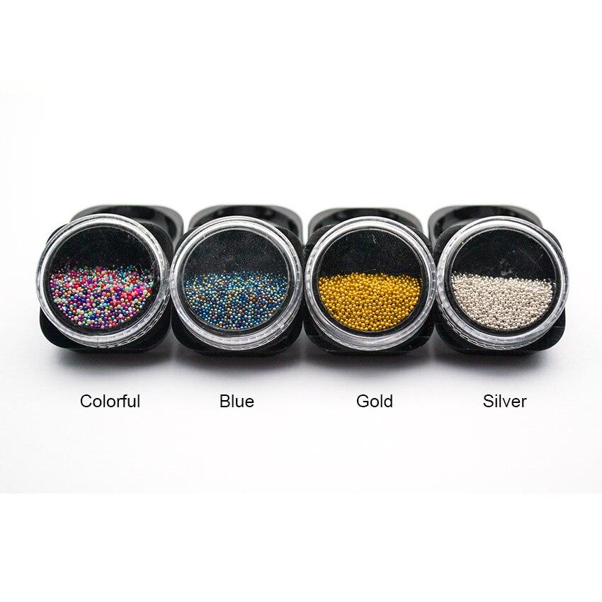 0,6 ~ 0,8mm Micro Perlen Für Nägel Caviar Strass Nail Art Kristall Pixie Bunte Gradienten 3d Nail Art Maniküre Dekorationen Mjz2092