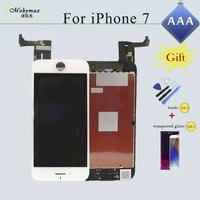 Módulo de LCD Ecran Pantalla para iPhone 4S 5S 6 A1586 A1549 6 S 7 Tela Display LCD Touch Screen Digitador Assembléia Vidro de Substituição