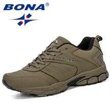BONA 2019 New Style Spring Autumn Men Running Shoes Breathab