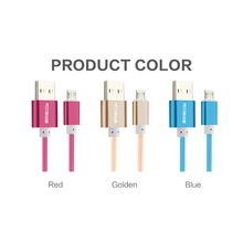 2016 Nylon Metal Micro USB Cable Colorful Mobile Phone Cable 1.5m for iPhone 6 6s Plus 5s iPadmini / Samsung / Xiaomi