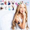 Ice Princess Anna Elsa Child Love Temporary Body Art Toys, Flash Tattoo Sticker 17*10cm,  Birthday Xmas Baby Shower Party Gift