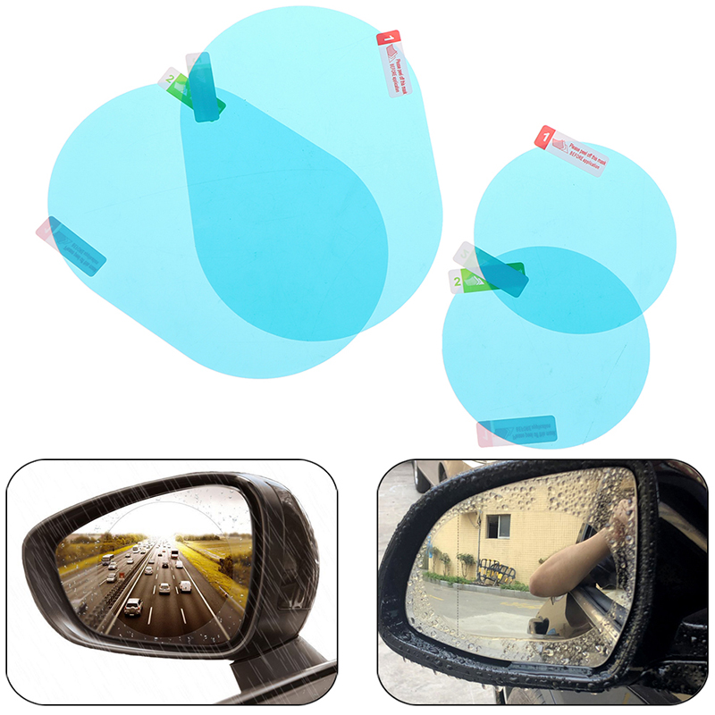 1 Pair Anti Fog Rainproof Film Car Anti Water Mist Film Coating Rainproof Hydrophobic Rearview Mirror Protective Film