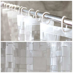 Image 3 - EVA Square Shower Curtain For Transparent Thickened Shower Curtains 3D Bathroom Curtain Moldproof Waterproof Bathroom Supplies