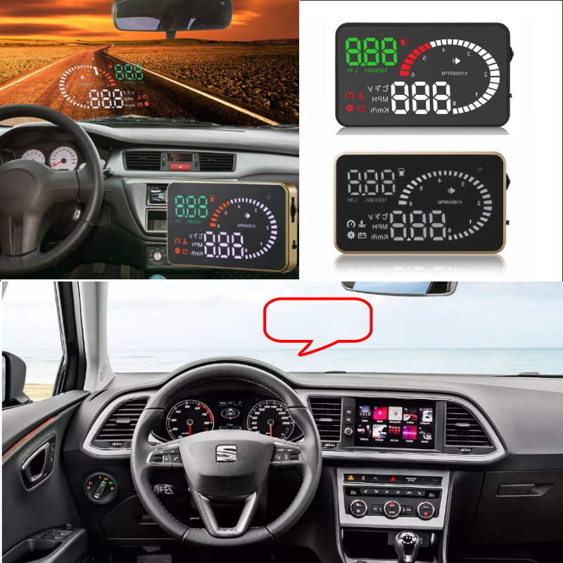 Liislee Car HUD Head Up Display For Seat Leon Ibiza Cover Altea Alhambra- Safe Driving Screen Projector / OBD II Connector цена 2017