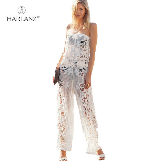 Hot Sale Sexy Lace Romper All White Elegant Jumpsuit Plus Size Sexy
