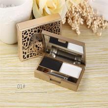 Gel de cejas Maquillaje En Polvo Ceja Kit de Maquillaje Cosmético Sombra de Ojos de la Paleta Con El Cepillo Espejo Accesorios de Salud y Belleza