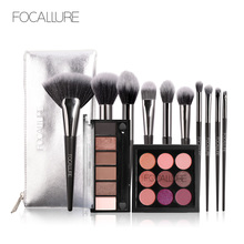 Focallure makeup set Eyeshadow Palette with Brush Glitter shimmer eye shadow make up Soft for all skin cosmetic