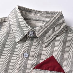 Image 2 - 2 7 년 소년 정장 웨딩 의류 세트 의상 어린이 정장 4PCS 보우 + 셔츠 + 벨트 + 바지 어린이 세트 레드 그레이