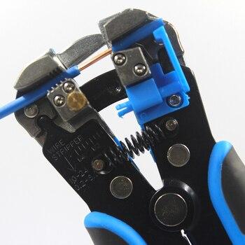 HS-D1 سلك القاطع التلقائي العقص سلك متجرد متعددة الوظائف تقشير أدوات محطة كماشة 0.2-6.0mm2 أداة