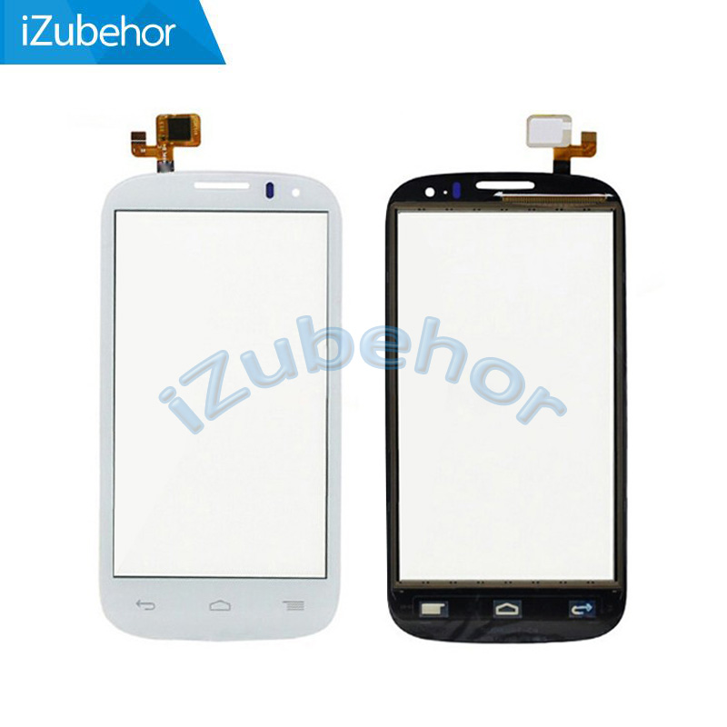 100% warranty white Touch Screen Digitizer Front Glass Replacement For <font><b>Alcatel</b></font> Touch C5 5036 <font><b>5036D</b></font> OT5036 OT-5036 Free Shipping image