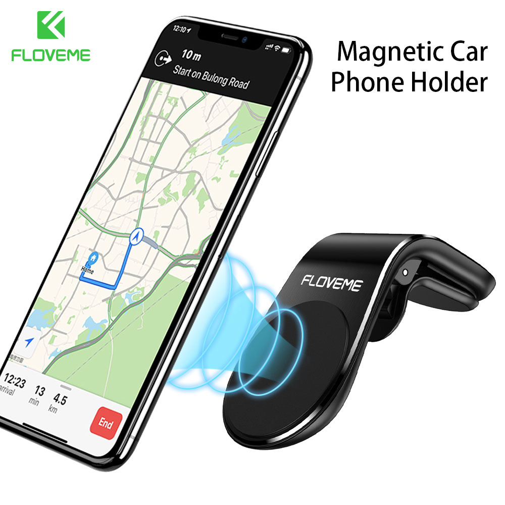 FLOVEME Car Magnetic Holder For IPhone 11 Pro Max Air Vent Mount In Car Magnet Car Phone Holder Support Smartphone Voiture Clip