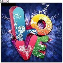 Diy 5d алмазная Картина Вышивка крестом Цветная Любовь Алмазная