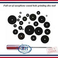Wind instrument repair tool Saxophone repair tool Full set of saxophone sound hole grinding disc tool
