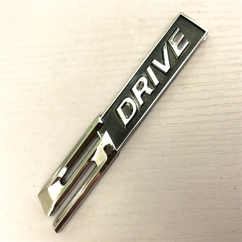3D Chrome alloy 5Drive Badge Emblem car <font><b>sticker</b></font> For BMW X1 X3 X5 X6 E70 E83 E90 E91 F15 F16 F20 F21 F30 <font><b>F10</b></font> car styling image