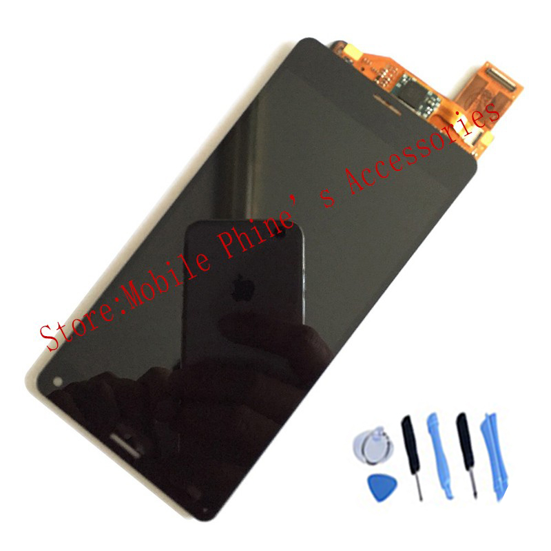 OEM LCD Display Touch Screen Digitizer For Sony Xperia Z3 Mini Compact D5803 D5833 Black With Free Tools + Tempered Glass