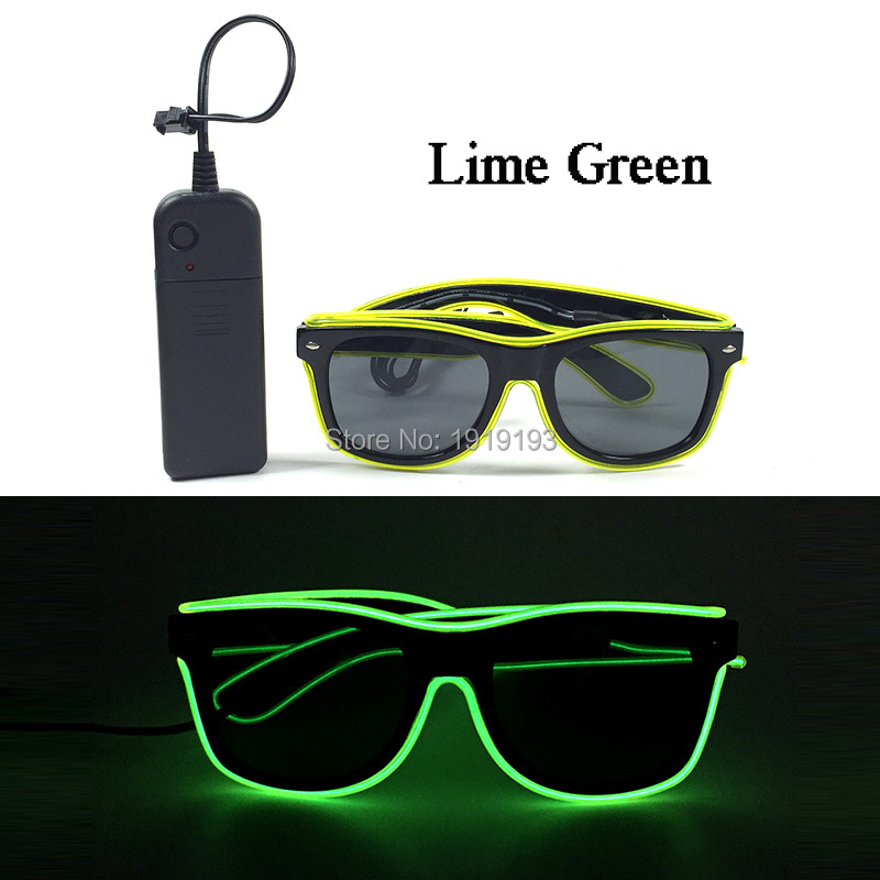 For Rave Costume Party Decor 10 Color Choice Flaring Neon Led Lights Glasses Holiday Lighting EL Cold Light Sunglasses by Driver