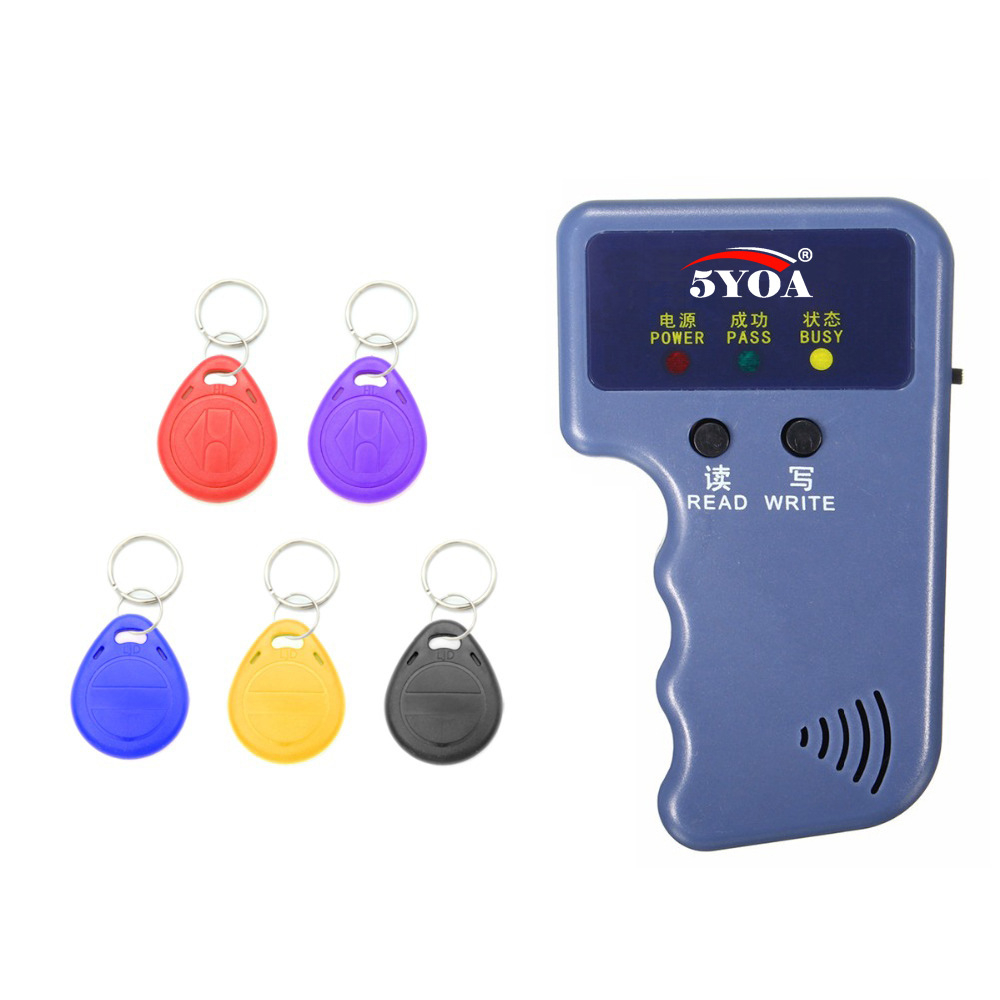 125KHz Rewritable RFID Copier Writer Duplicator Programmer Reader T5577 EM4305 5200 RF ID Keyfobs Tags Card Control Card Readers