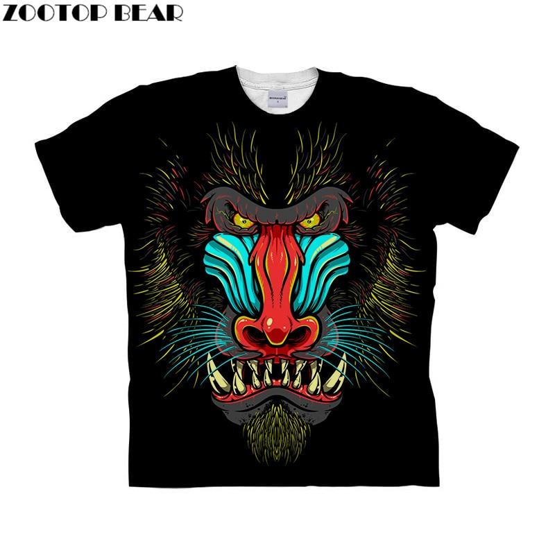 Skull tshirts 3D t shirt Men t-shirt Harajuku Camiseta Streatwear Tee Anime Top Short Sleeve Hip Hop DropShip ZOOTOPBEAR