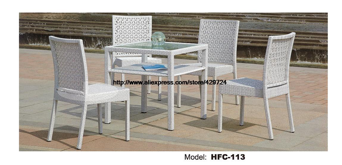 rattan balcony chairs table combination 5 pcs 2 level square table practical outdoor furniture. Black Bedroom Furniture Sets. Home Design Ideas
