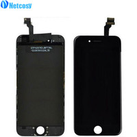 Netcosy 10 Stks/partij Black Front Lcd Touch Screen Digitizer Vergadering Vervanging Voor iPhone 6 (4.7