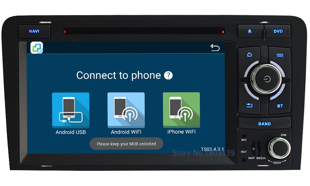 4G Wifi Android 6.0 7″ Octa Core 2GB RAM 32GB ROM DAB USB FM BT Car DVD Radio Player For Audi A3 S3 RS3 2003-2013 GPS Navigation