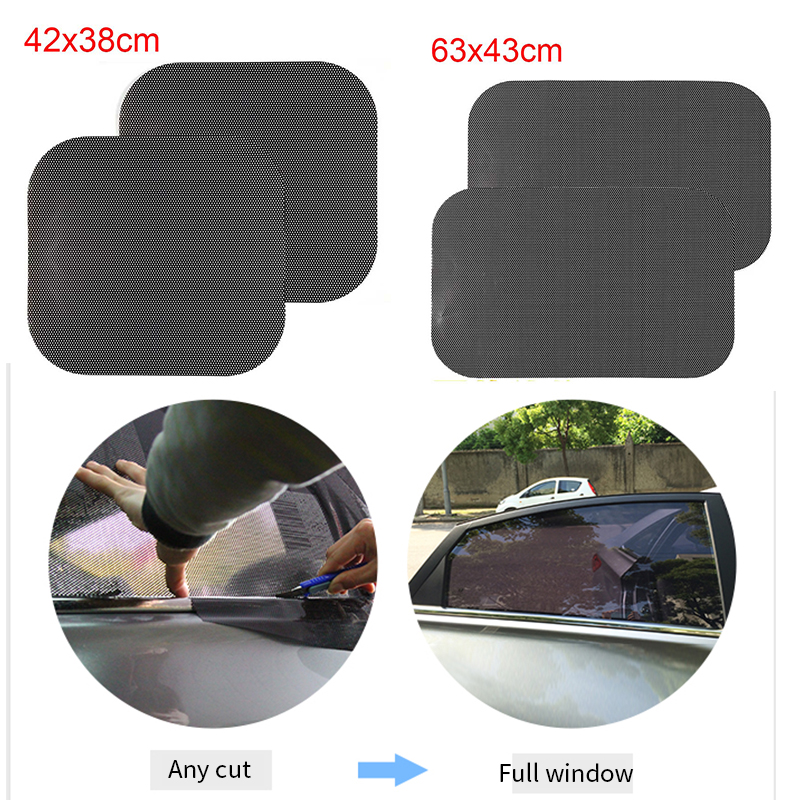 Image 3 - 2pcs Car Sunshades Window Cover PVC UV Protector Car Stickers windshield Sun Shade Shield Auto window Covers curtain Accessories-in Side Window Sunshades from Automobiles & Motorcycles
