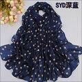 2016 la Primavera y el otoño de la gasa de terciopelo bufanda sunsreen toalla de playa bufanda de seda de lunares