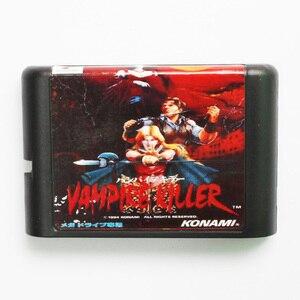 Картридж для игры Vampire Killer, 16 бит, игровая карта MD, для Sega Mega Drive, для Genesis, для игры в PAL-J