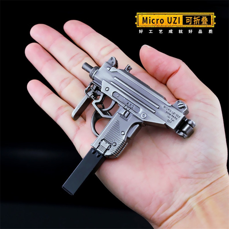 Microuzi Game Playerunknowns Battlegrounds 3d Keychain Pubg Keyring Saucepan Pendant Funny Kids Toy Gun Accessories Removing Obstruction Novelty & Special Use Costume Props