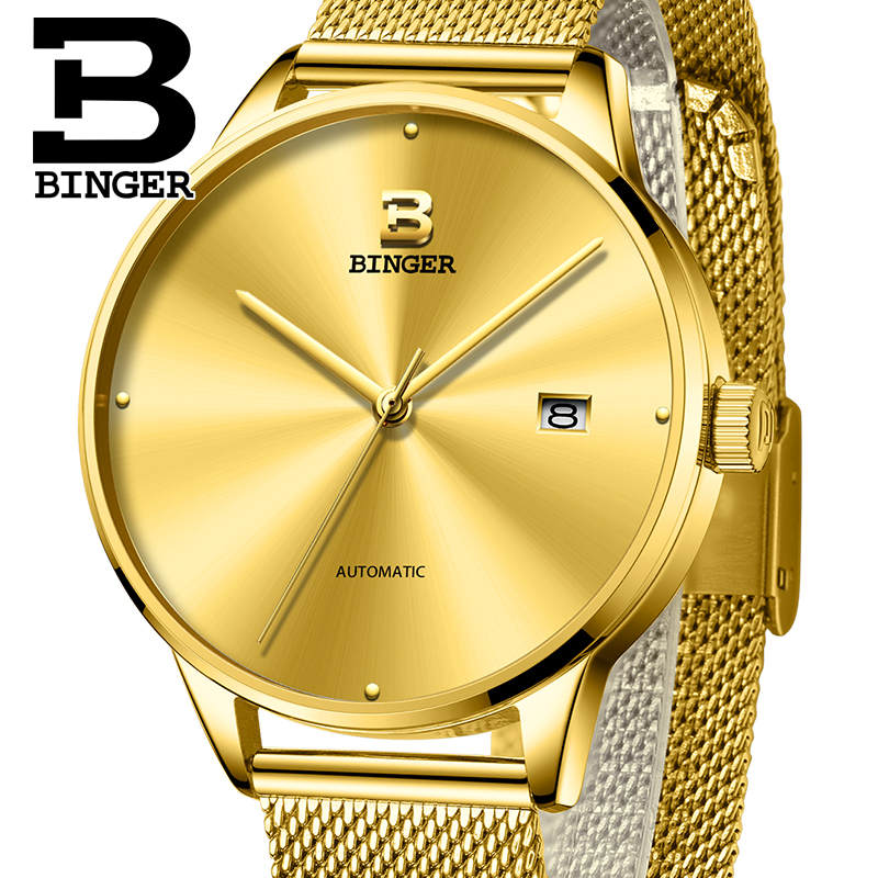 Switzerland BINGER Mens Watches Brand Luxury automatic mechanical Men Watch Sapphire Wrist Watch Male relogio masculino 5080-8 sapphire automatic mechanical watch classic mens watches top brand luxury fashion male wristwatch high quality relogio masculino