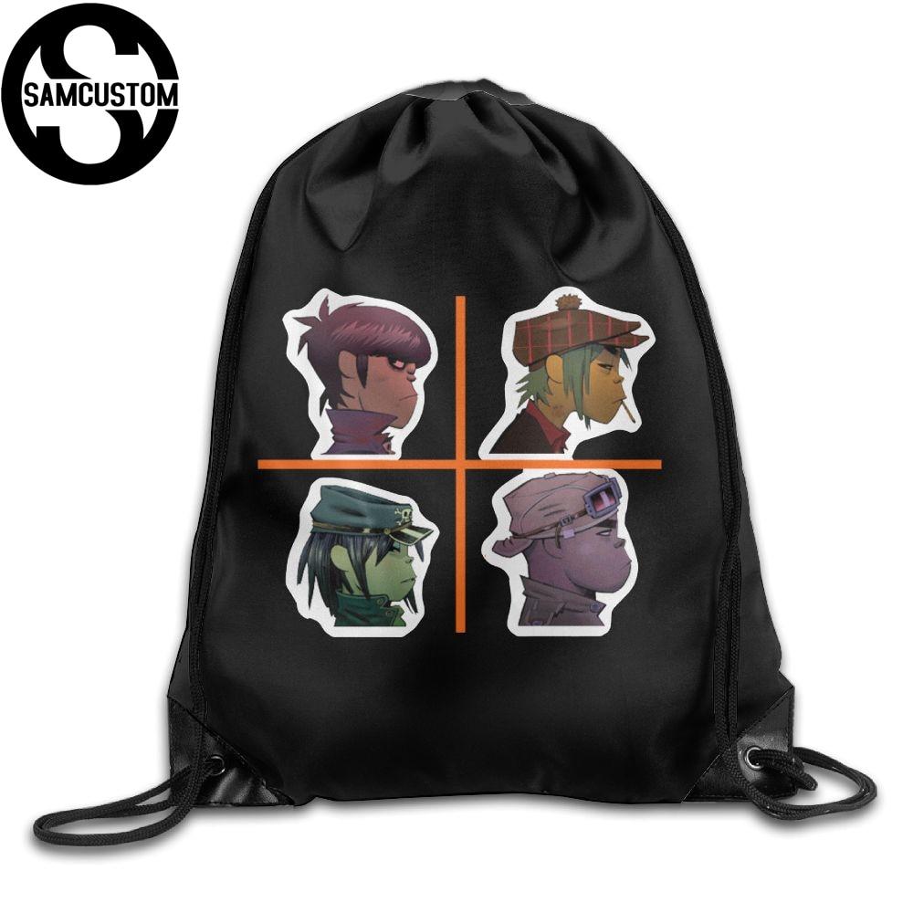 Samcustom Gorillaz 3d Print Shoulders Bag Fabric Backpack Men And Women Port Drawstring Travel Shoes Dust Storage Bags