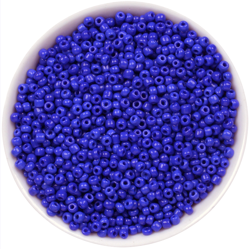 1000PCS 2mm Royalblue HOT Round Glass Seed Micro Tiny Small Jewelry Loose Beads Black White Red Green Yellow Blue(China)